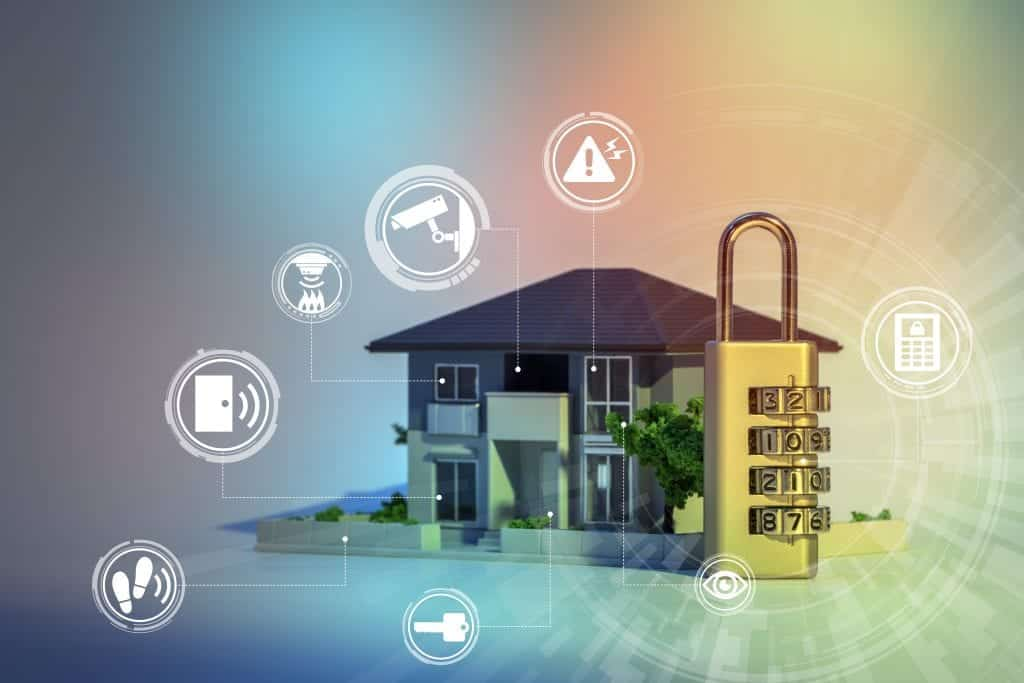 smart home security system with lock pad