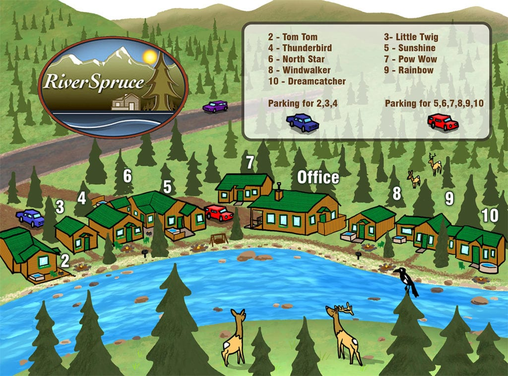 Map of Cabins