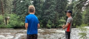 Fishing at River Spruce