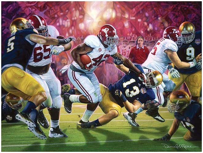 Crimson Dynasty Daniel Moore Alabama Football Prints National Championship 2013