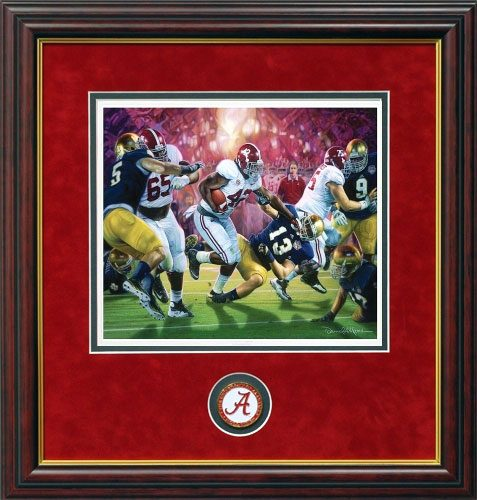 Daniel Moore Crimson Dynasty Alabama Football Prints Framed