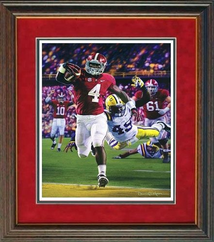 Death Valley Drive Daniel Moore Alabama Football Prints Framed
