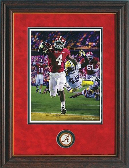 Death Valley Drive Daniel Moore Framed Alabama Football Prints