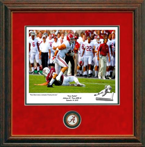 Vinnie Sunseri Alabama Football Prints Framed with Coin